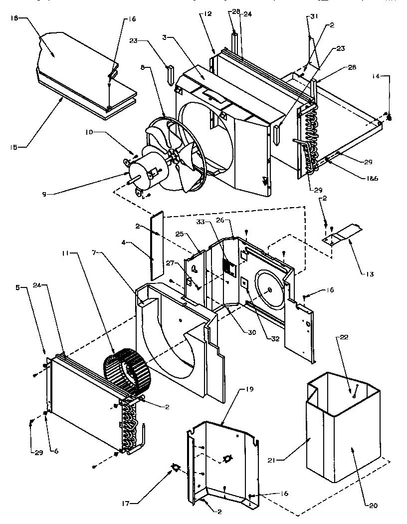 EVAPORATOR, CONDENSER, INSULATION & AIR FLOW SYSTEM
