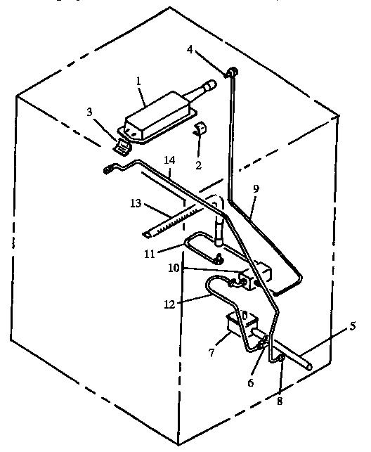 GAS COMPONENTS Diagram & Parts List for Model rss358uw