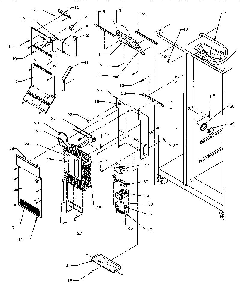 AMANA Side-By-Side Refrigerator Door hinge/trim (refriger