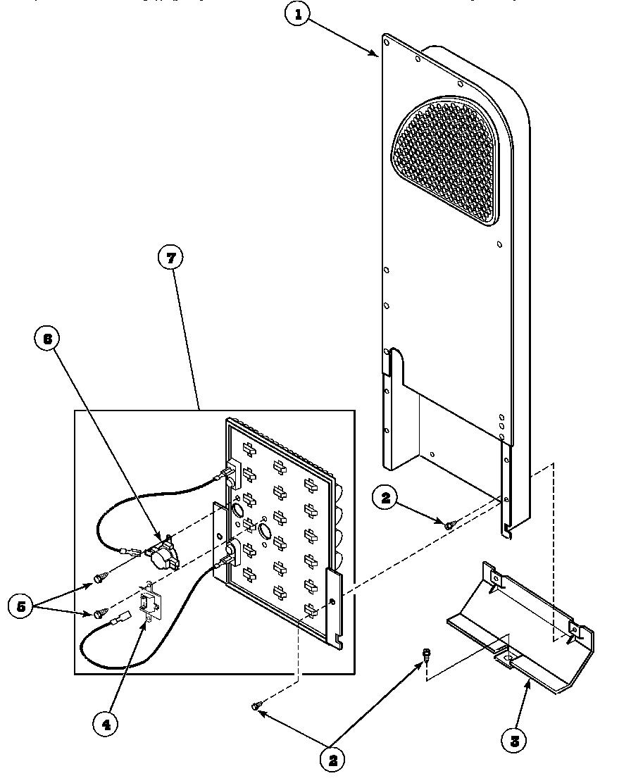 medium resolution of speed queen aem477w2 paem477w2 heater box assembly originally on electric dryer diagram