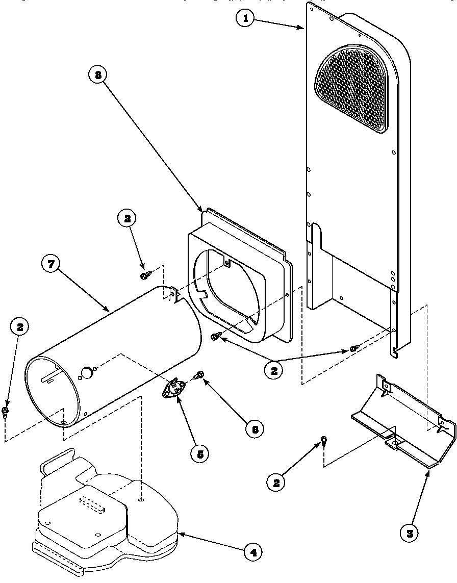 medium resolution of speed queen aem477w2 paem477w2 heater box assembly originally on gas dryer diagram