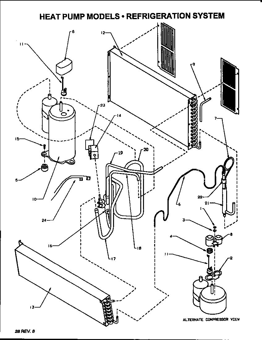 REFRIGERATION SYSTEM (HEAT PUMP MODELS) (PTC09335JFT
