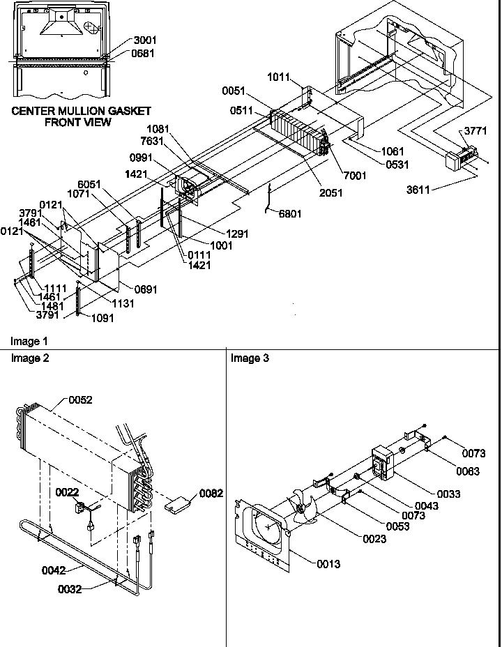 EVAPORATOR AND FAN MOTOR ASSEMBLIES Diagram & Parts List