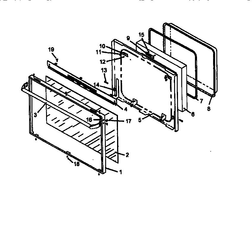CALORIC Gas Range Oven, bar broiler (rsf320 Parts