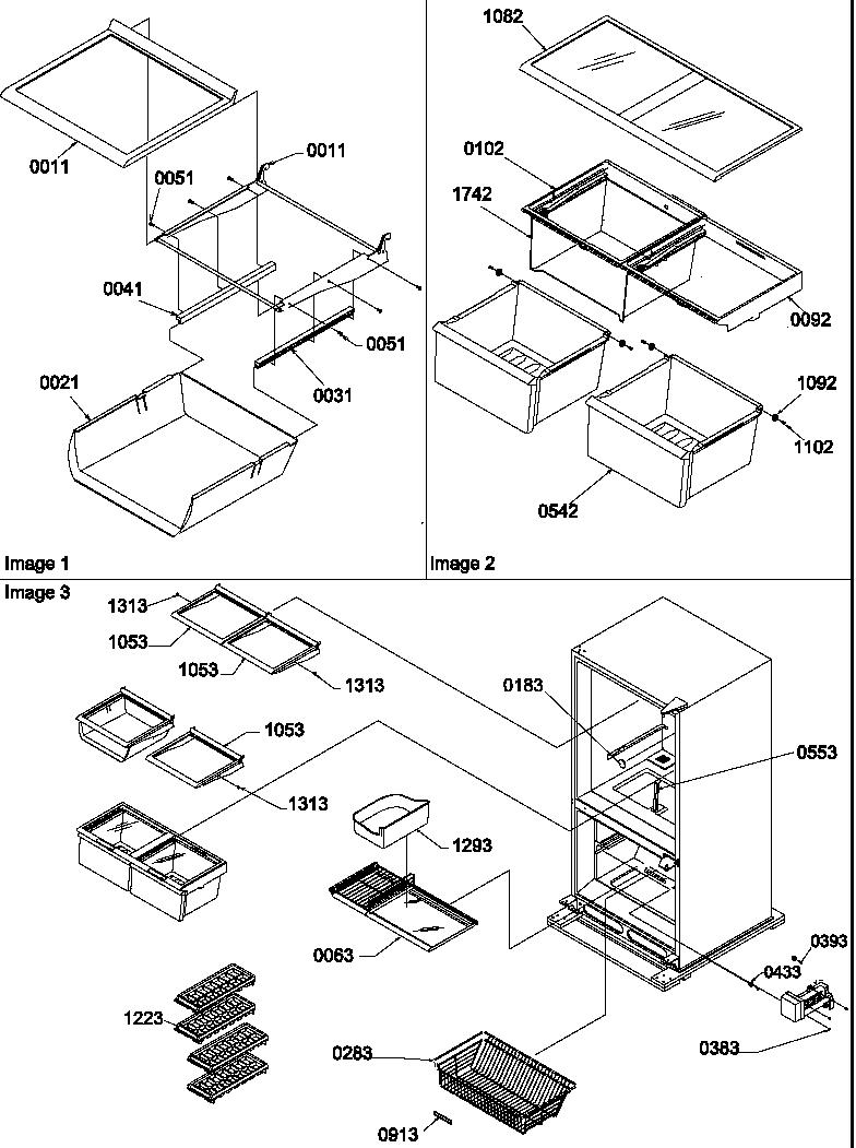 AMANA Bottom-Mount Refrigerator Door assemblies Parts
