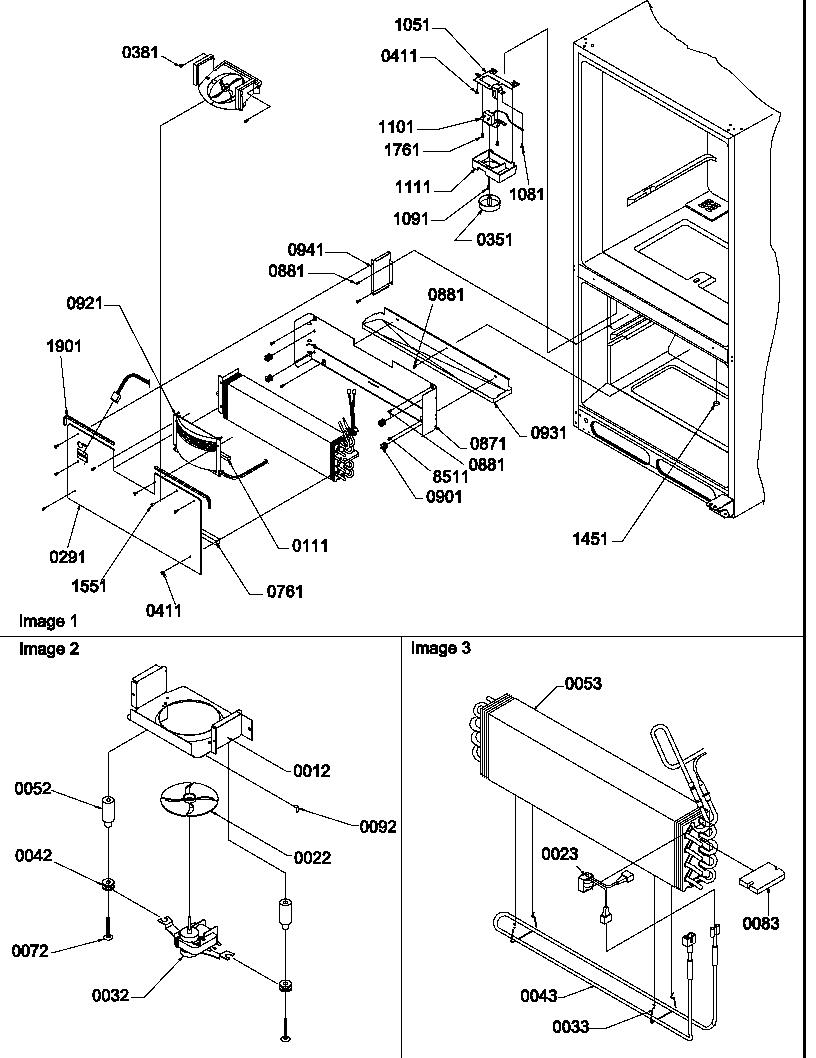 EVAPORATOR & FREEZER CONTROL ASSEMBLY Diagram & Parts List