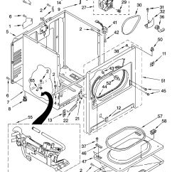 Kenmore 90 Series Dryer Parts Diagram Ford Sierra Cosworth Wiring 1991 Electric Model 11074832400 Residential Genuine Washer 80