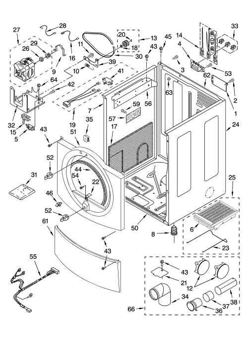 small resolution of kenmore elite 11085872400 cabinet parts diagram
