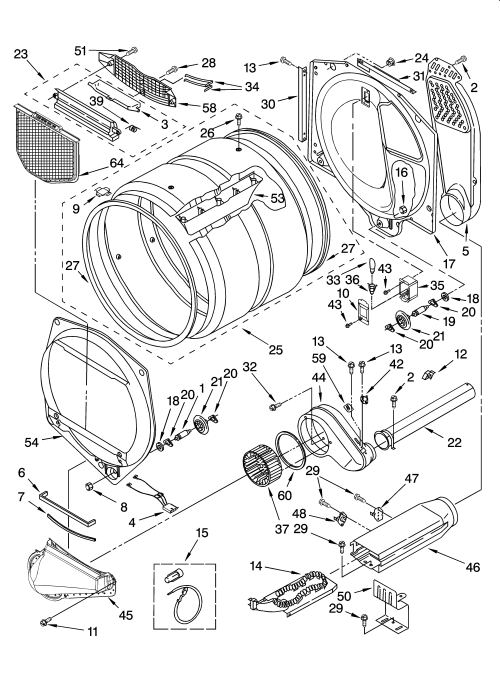 small resolution of kenmore elite model 11085872400 residential dryer genuine parts kenmore dryer electrical schematic diagram kenmore dryer wiring diagram manual