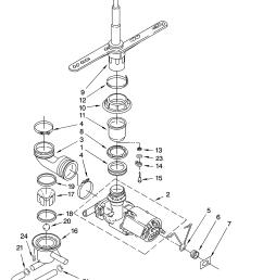 kenmore 66517679400 pump and spray arm parts diagram [ 3348 x 4623 Pixel ]