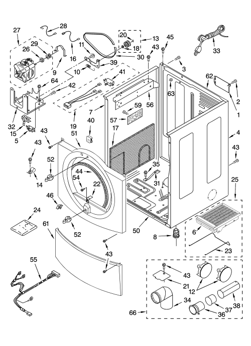small resolution of kenmore elite 11095866400 cabinet parts diagram