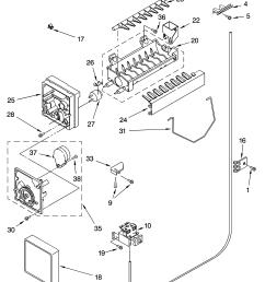 kenmore model 10655622500 side by refrigerator genuine parts kenmore elite refrigerator parts model 79575194400 sears partsdirectkenmore ice maker [ 3348 x 4623 Pixel ]
