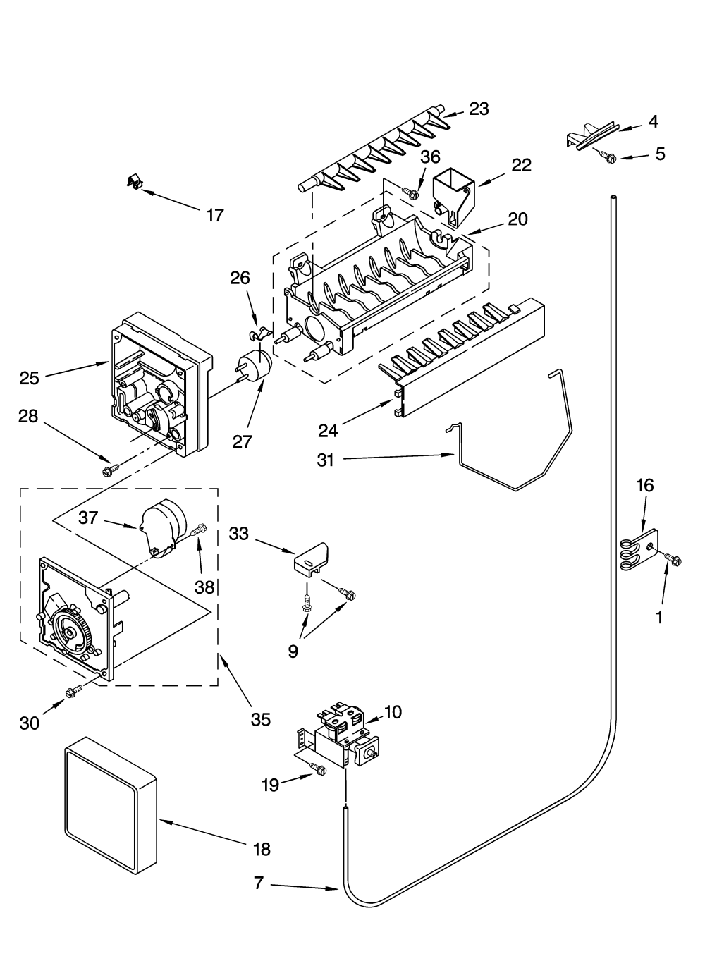 medium resolution of kenmore model 10655622500 side by refrigerator genuine parts kenmore elite refrigerator parts model 79575194400 sears partsdirectkenmore ice maker