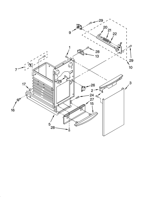 small resolution of kenmore 66513619101 container parts diagram