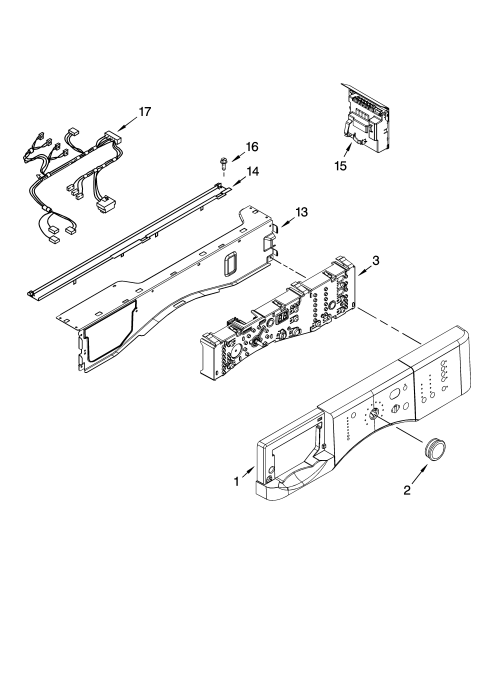 small resolution of kenmore 11046462500 control panel parts diagram