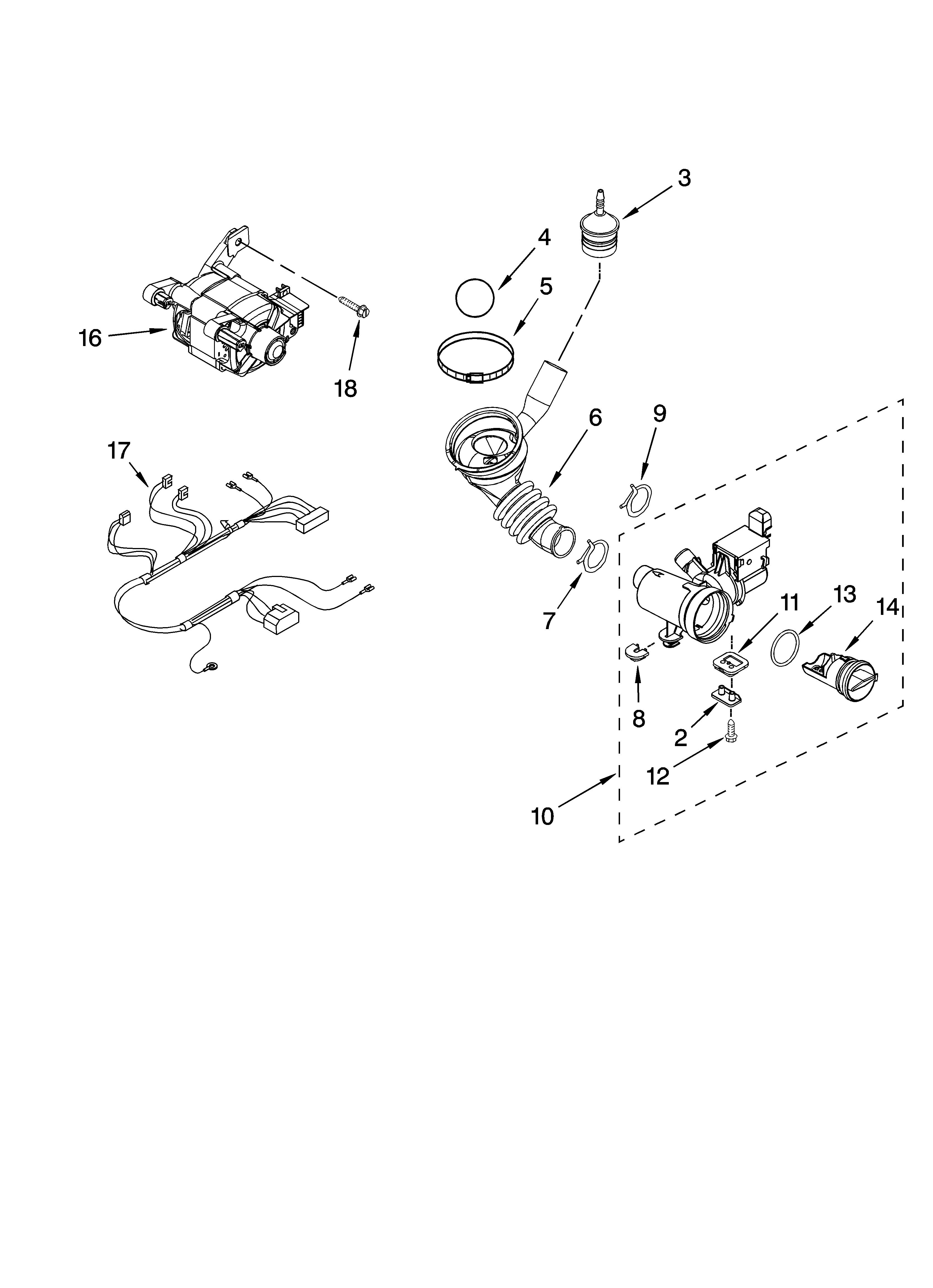 kenmore he2 plus washer parts diagram a well labelled of microscope pump and motor list for model