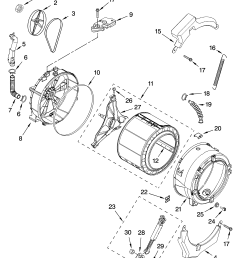 kenmore 11046462500 tub and basket parts optional parts not included diagram [ 3348 x 4623 Pixel ]