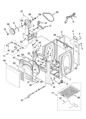 CABINET PARTS Diagram & Parts List for Model 11077032600