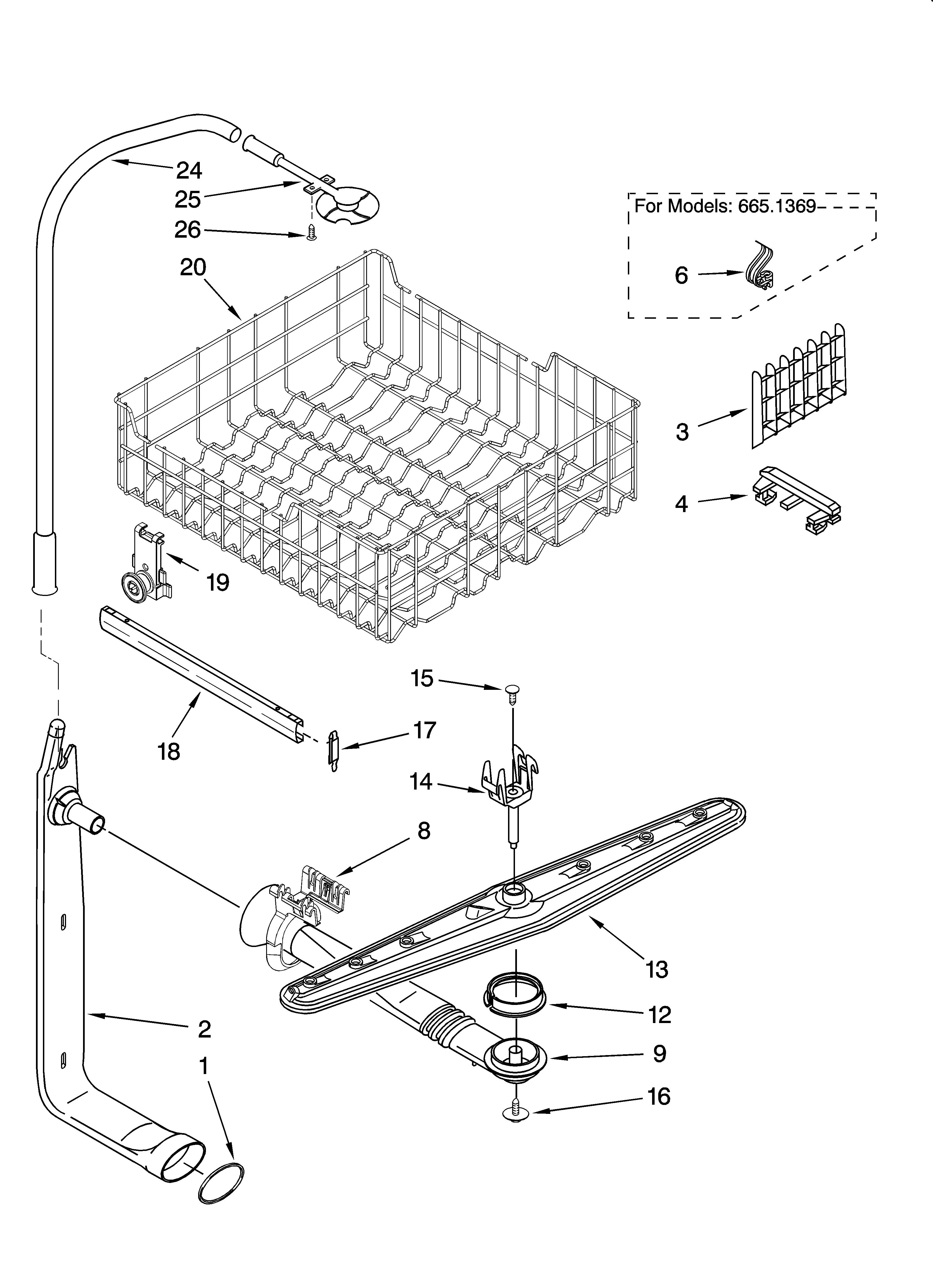 Dishwashers: Kenmore Ultra Wash Dishwasher Parts