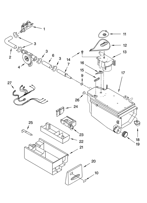 small resolution of kenmore elite 11045087404 dispenser parts diagram