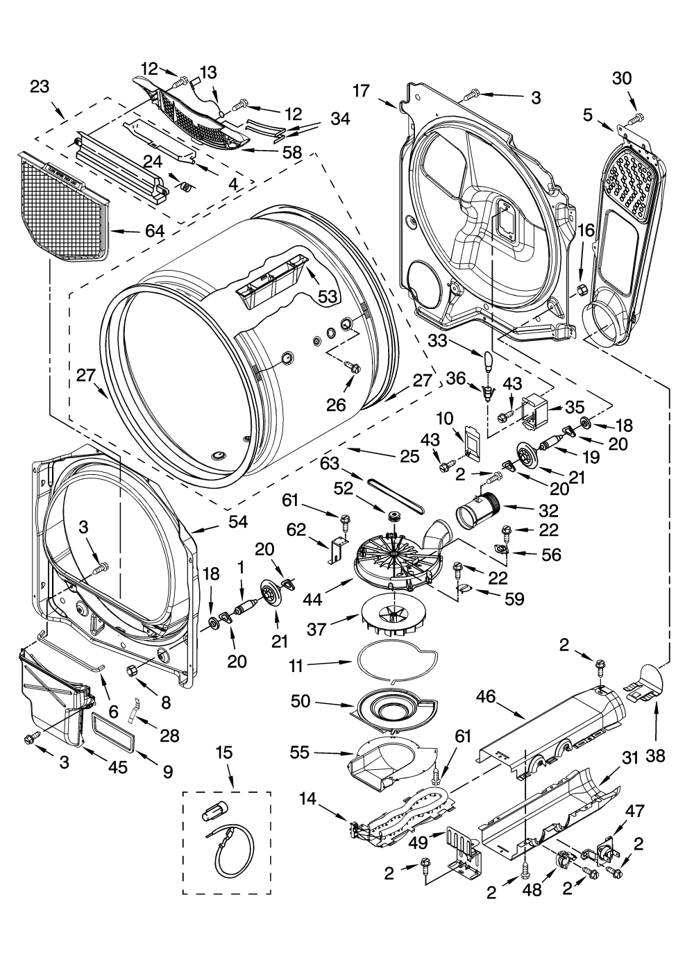 medium resolution of kenmore elite model 11067052600 residential dryer genuine parts rh searspartsdirect com kenmore 110 dryer parts diagram