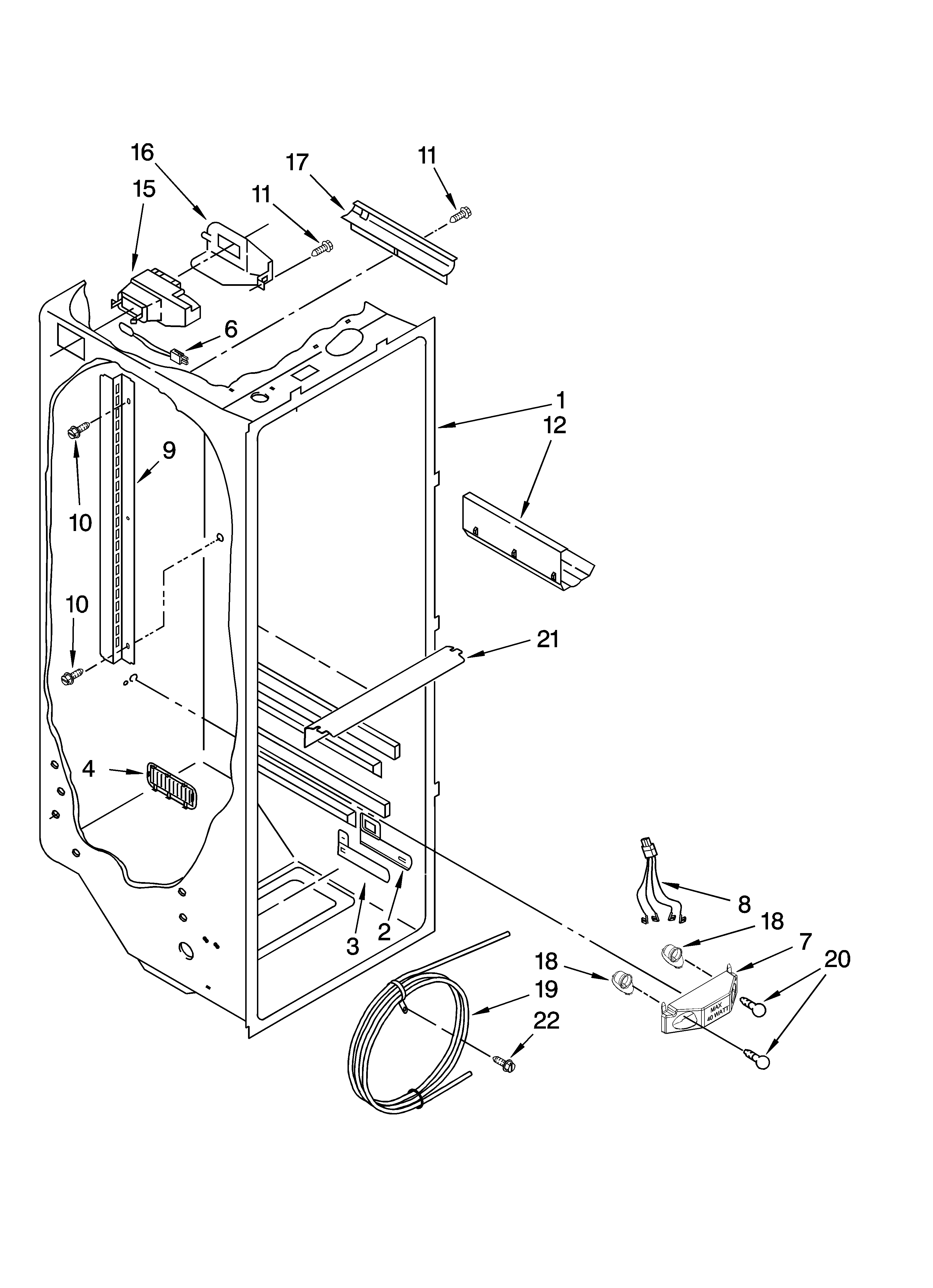 REFRIGERATOR LINER PARTS Diagram & Parts List for Model