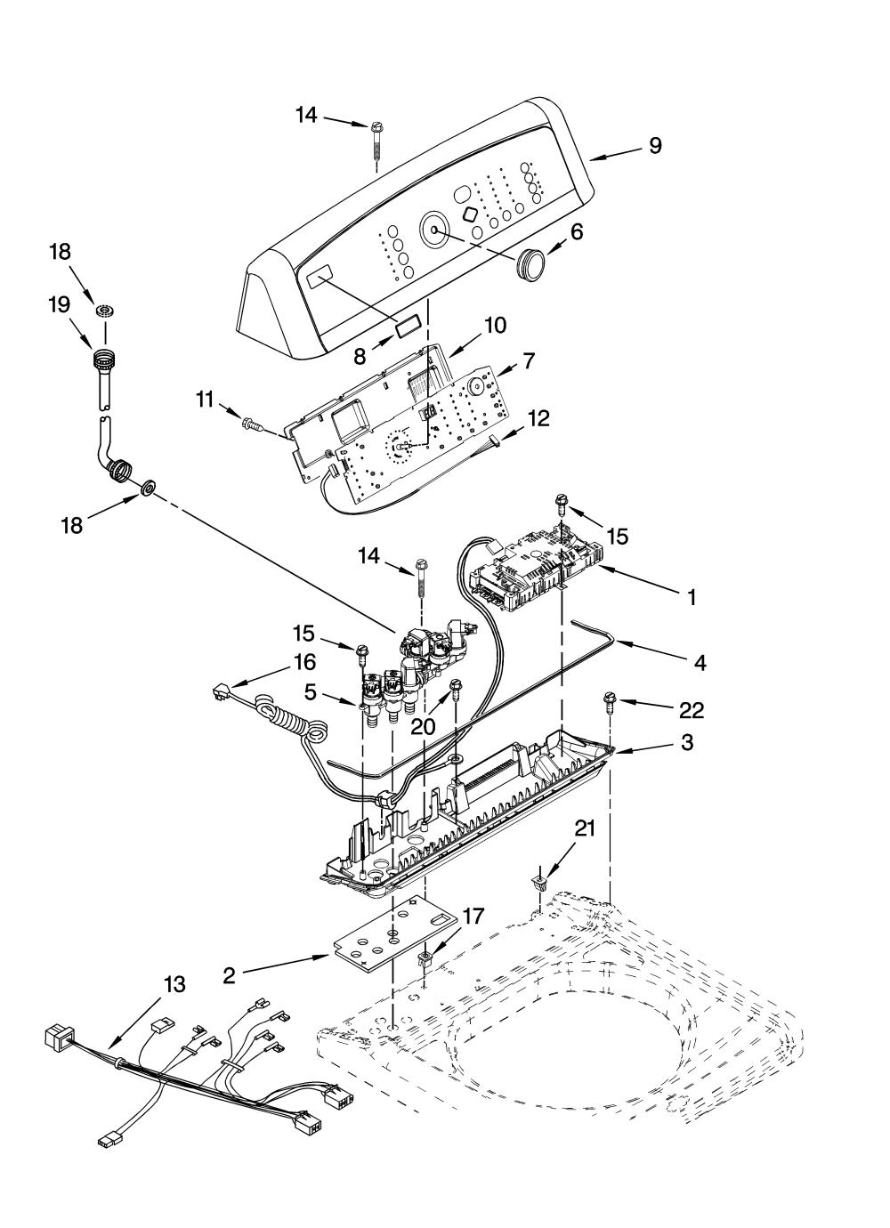 medium resolution of kenmore elite 11028032700 control panel parts diagram