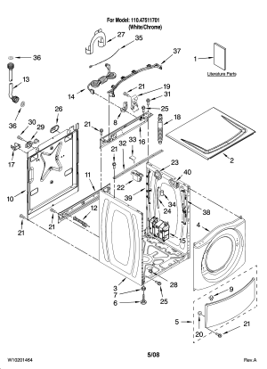 KENMORE RESIDENTIAL WASHER Parts | Model 11047511701 | Sears PartsDirect
