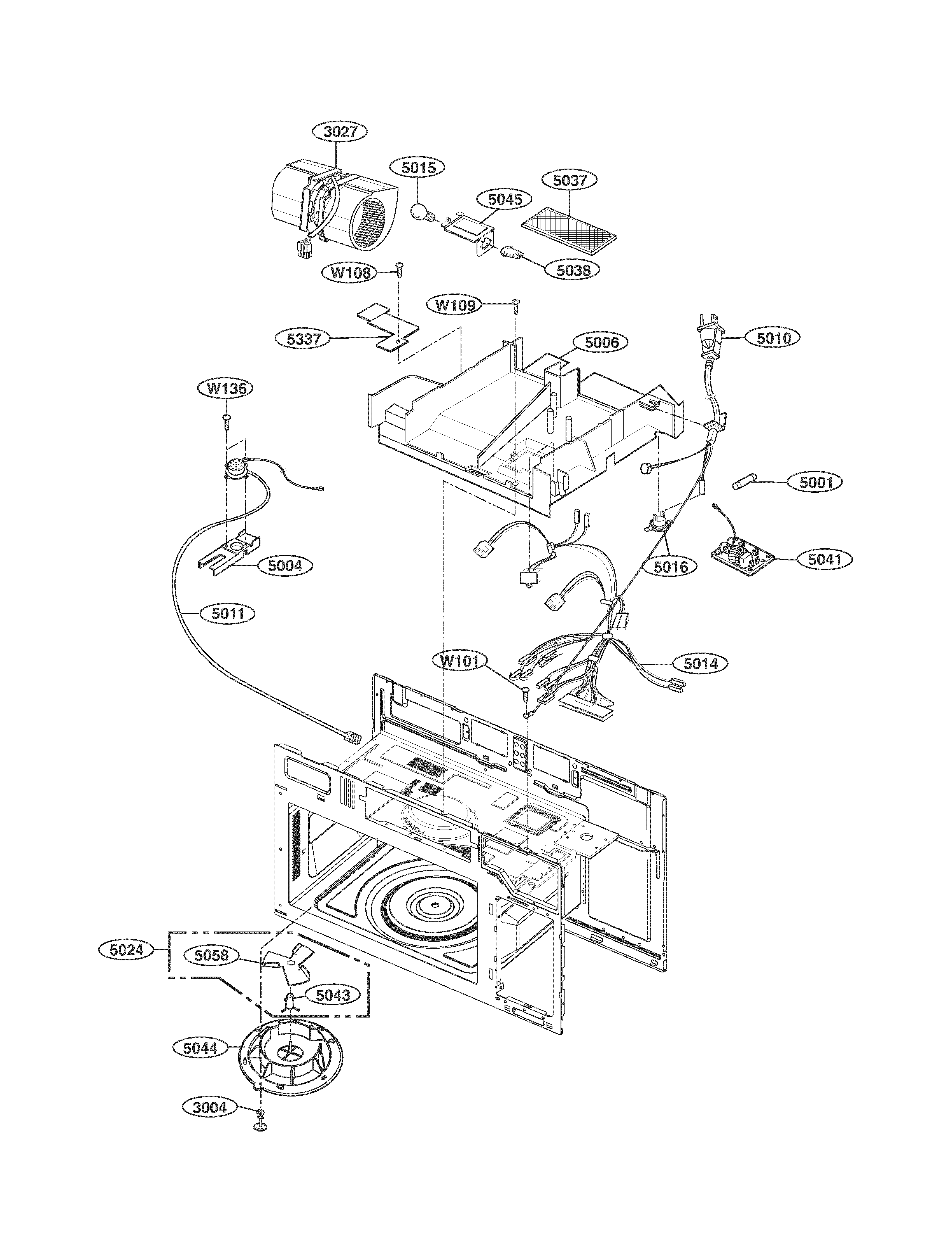 Kenmore Microwave Model 721 85063010 Wiring Schematic