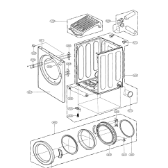 Cabinet Door Diagram 2000 Ford F250 Radio Wiring And Parts List For Model Dle0442w Lg