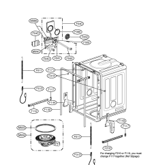 Bathtub Drain Assembly Diagram Location Lymph Nodes Tub And Parts List For Model Ldf6920ww Lg