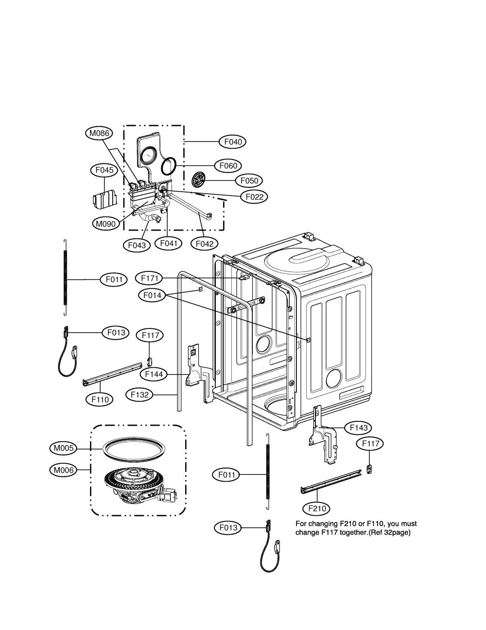 medium resolution of lg model ldf6920ww dishwasher genuine parts lg wiring diagram