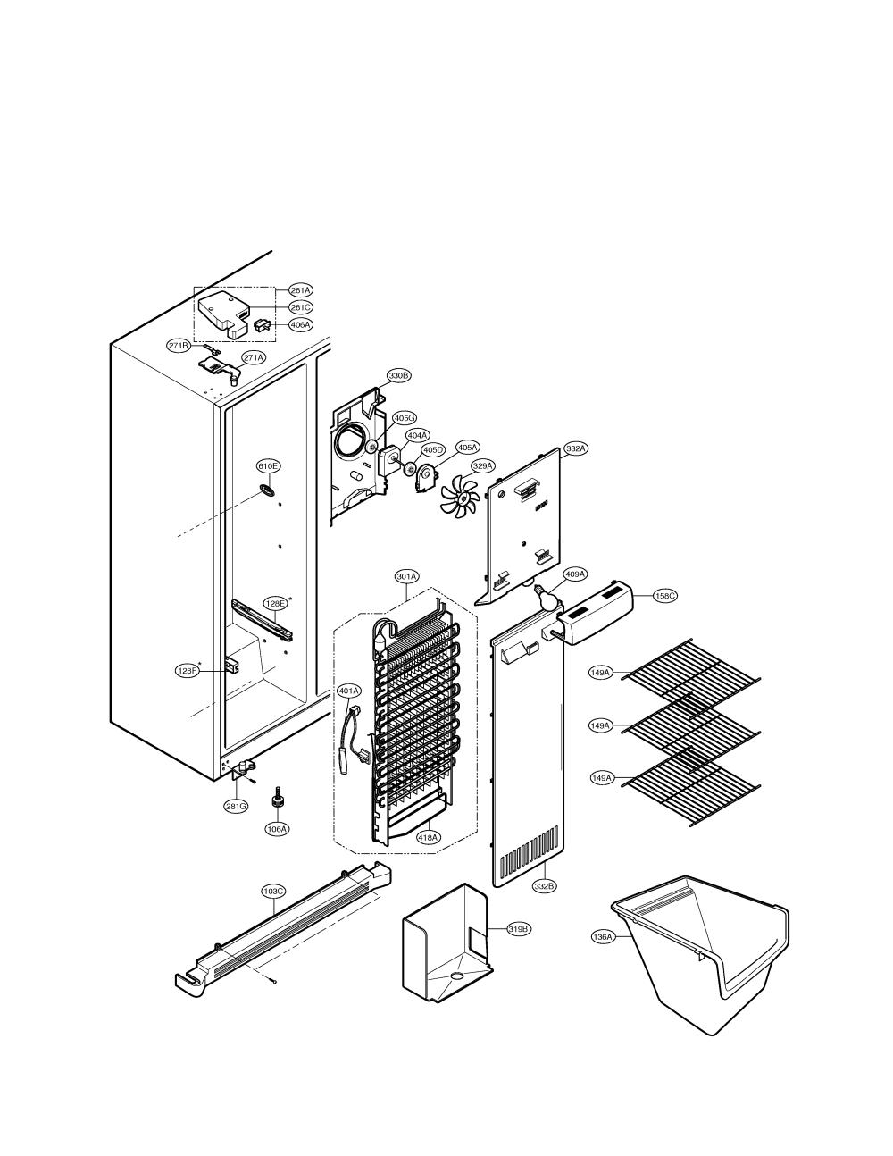 medium resolution of lg model lsc27910st side by side refrigerator genuine parts lg diagram refrigerator gm t56900vc lg refrigerator diagrams
