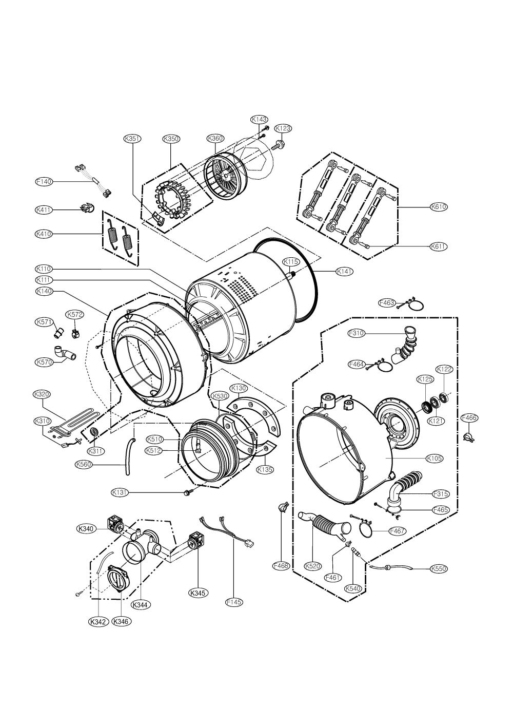 medium resolution of lg model wm1832cw residential washers genuine parts source washing machine wiring diagram ponent