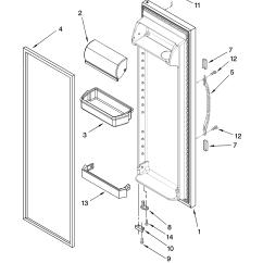 Kenmore 106 Refrigerator Parts Diagram Cat 5 Wiring Wall Jack Australia Door Model