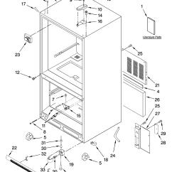 Kenmore 106 Refrigerator Parts Diagram 1997 Honda Civic Radio Wiring Coldspot Model Within