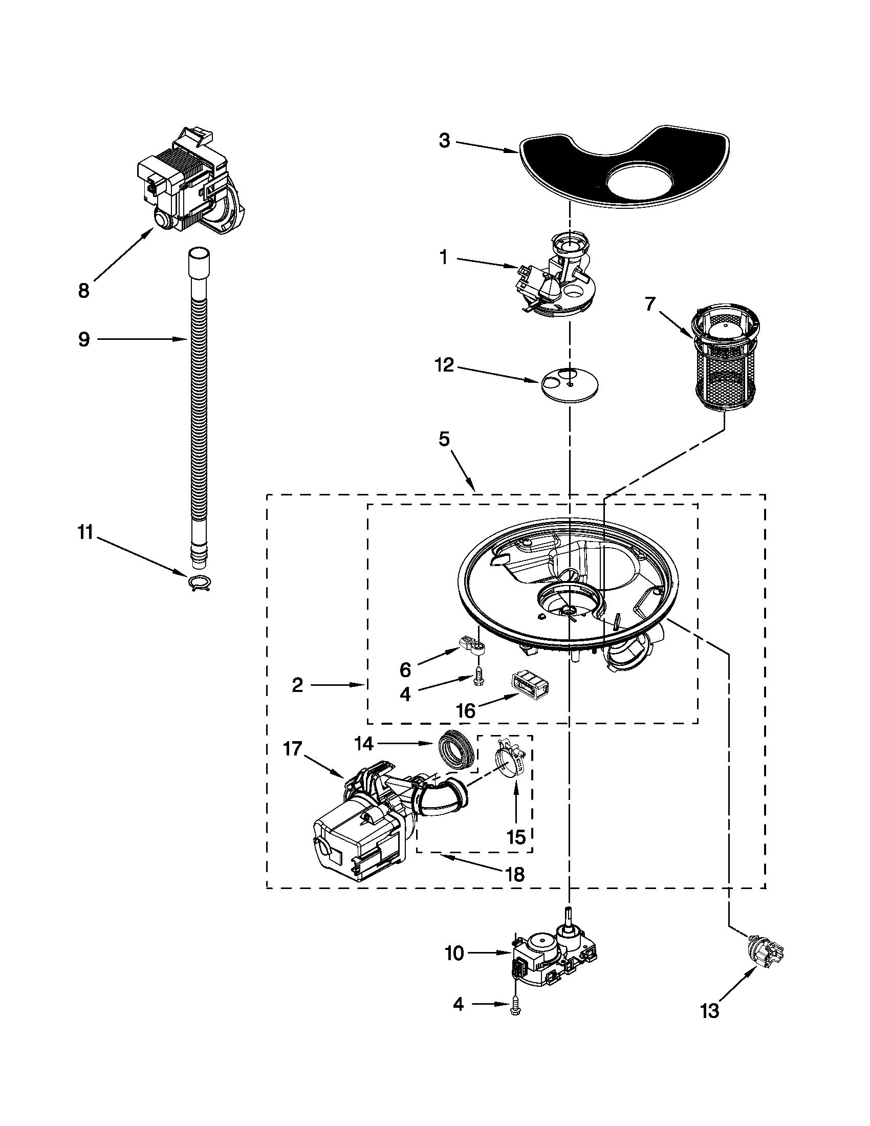 PUMP AND MOTOR PARTS Diagram & Parts List for Model