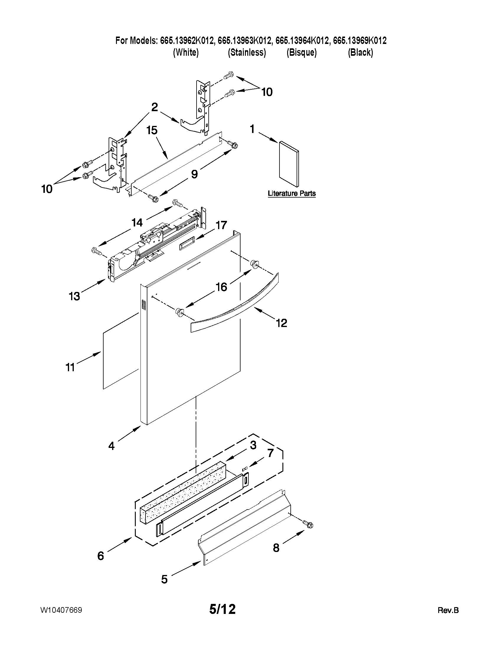 kenmore elite dishwasher wiring diagram 1991 ford f150 starter solenoid undercounter parts model