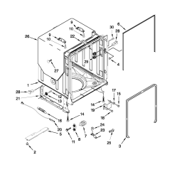 Kenmore Elite Parts Diagram Iphone 4 Screw Tub And Frame List For Model