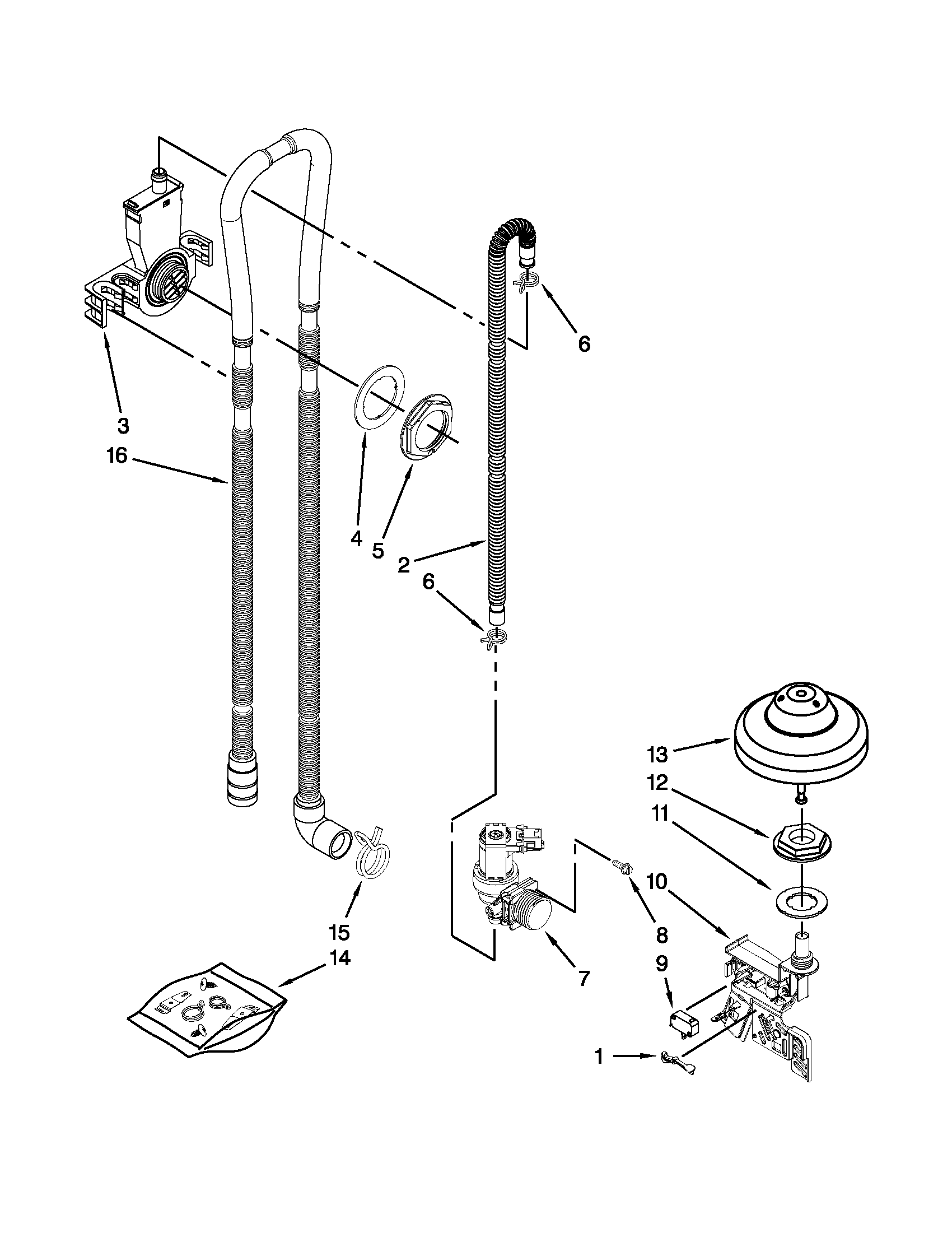 hight resolution of kenmore elite 66512773k310 fill drain and overfill parts diagram