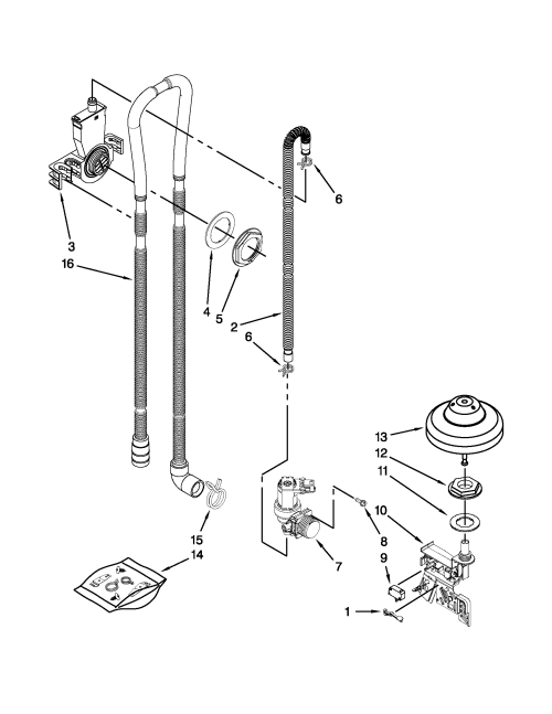 small resolution of kenmore elite 66512773k310 fill drain and overfill parts diagram