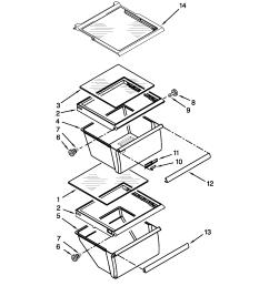 kenmore 10650023211 refrigerator shelf parts diagram [ 1700 x 2200 Pixel ]