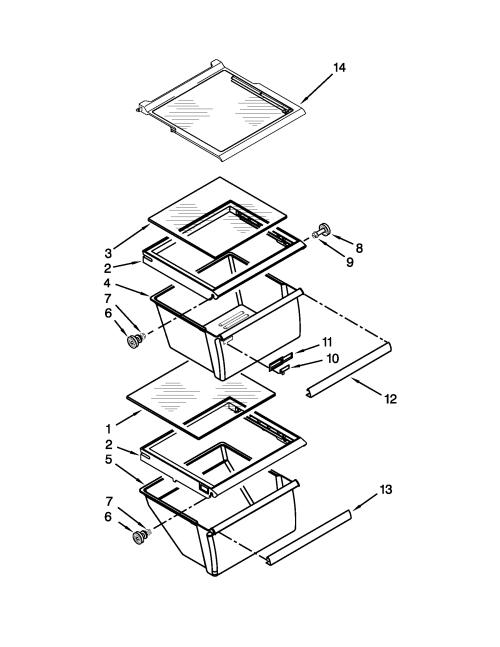 small resolution of kenmore 10650023211 refrigerator shelf parts diagram