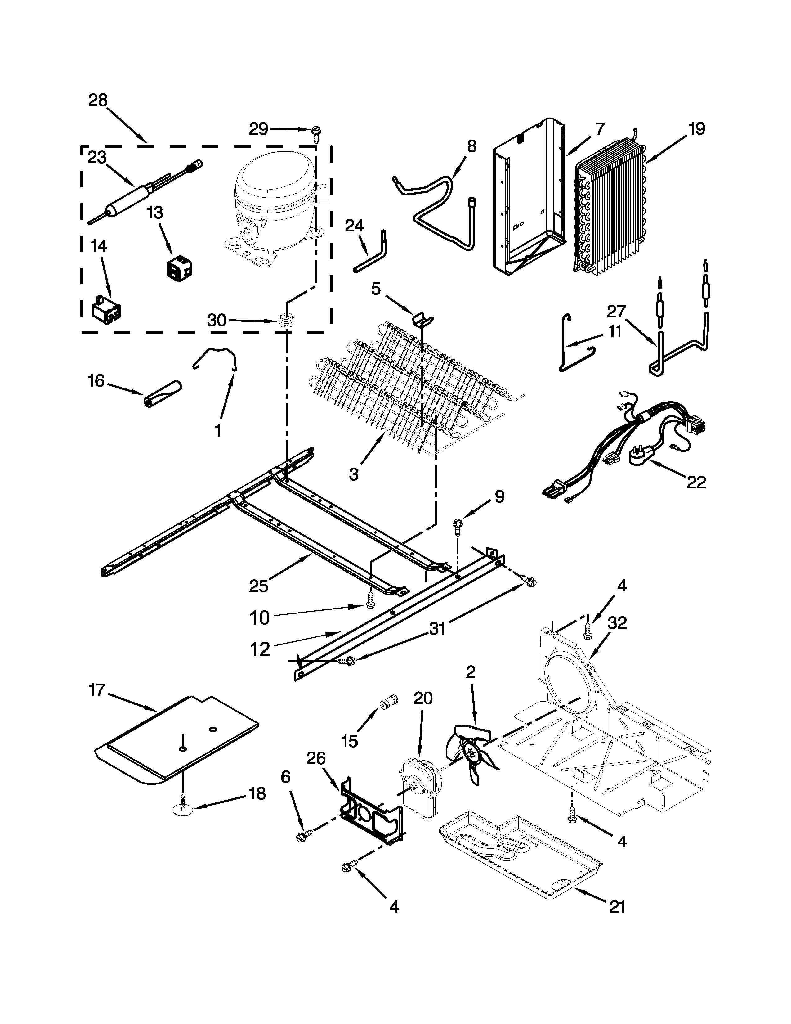 UNIT PARTS Diagram & Parts List for Model 10651792411