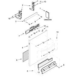 kenmore 66514579n612 door panel parts diagram [ 2550 x 3300 Pixel ]