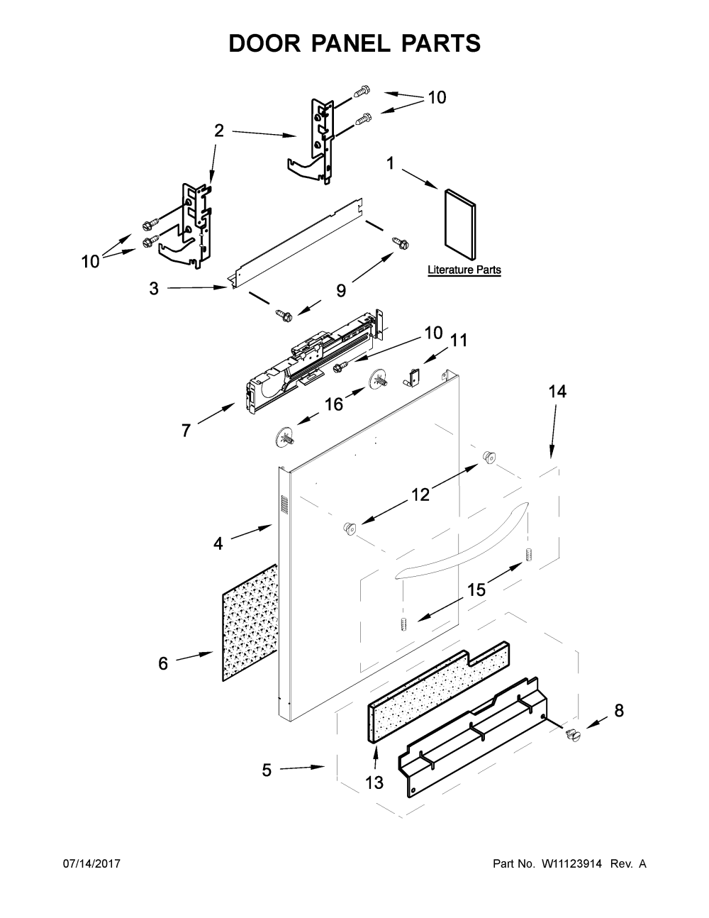 medium resolution of kenmore 66514579n612 door panel parts diagram