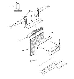 kenmore 66513542n414 door and panel parts diagram [ 2550 x 3300 Pixel ]