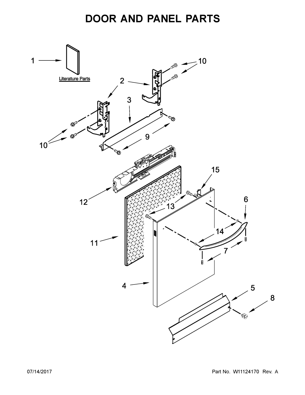 medium resolution of kenmore 66513542n414 door and panel parts diagram