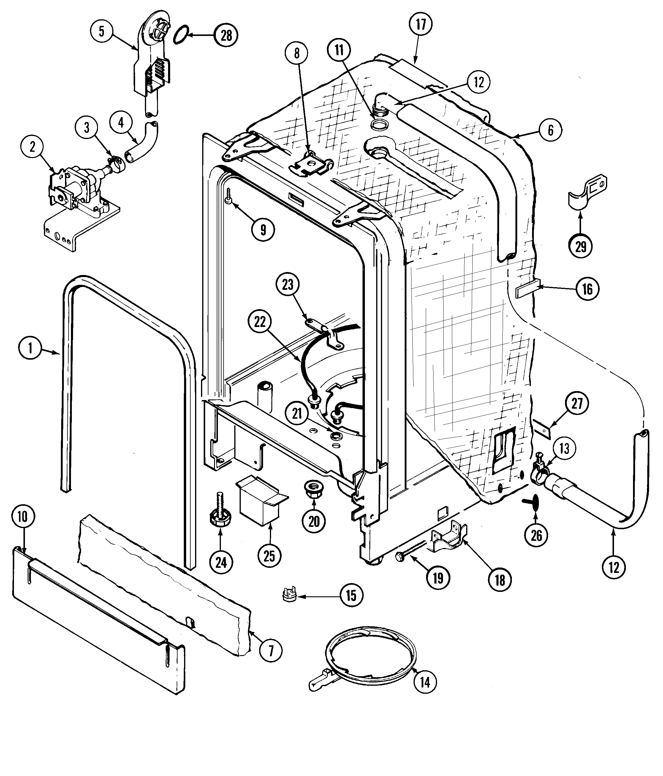 Dishwasher photo and guides: Beko Dishwasher Parts Diagram