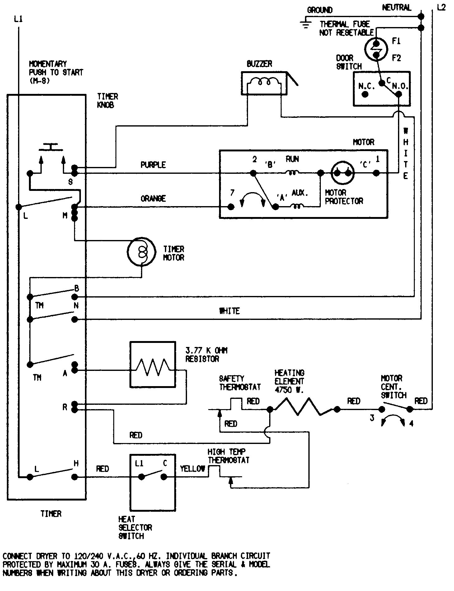 White Westinghouse Gas Dryer Wiring Diagram Toyota Power
